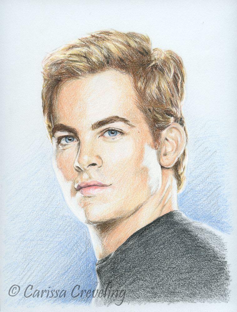 Chris Pine Drawing Pics