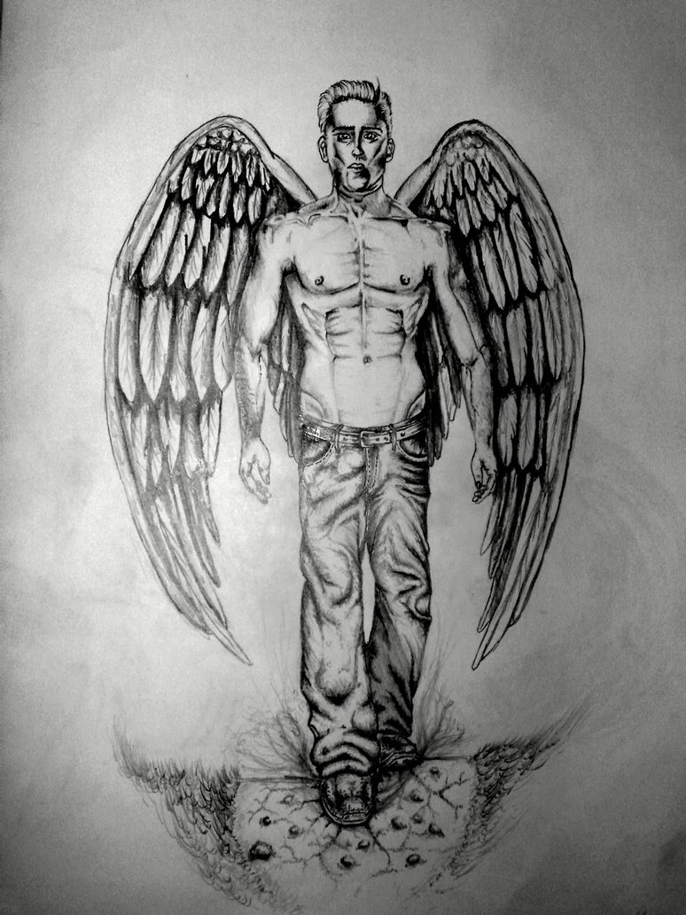 Angel Man Drawing Picture
