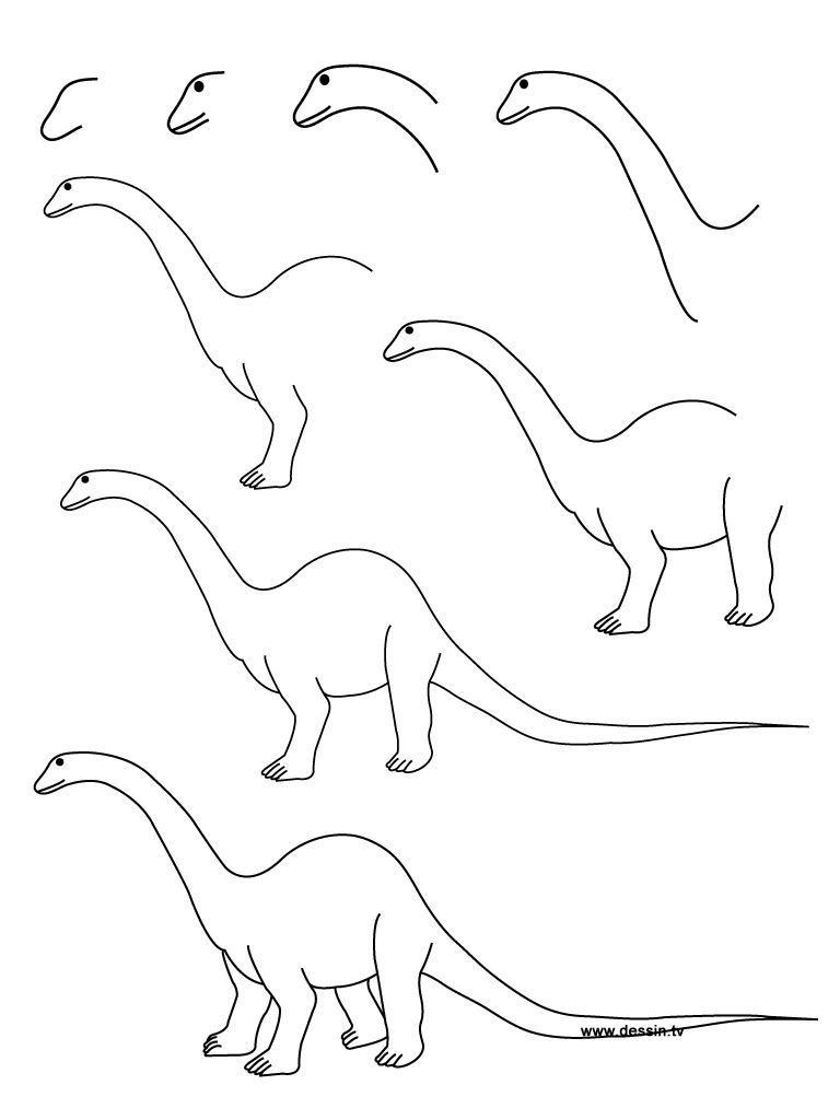 Dinosaur Drawing High-Quality