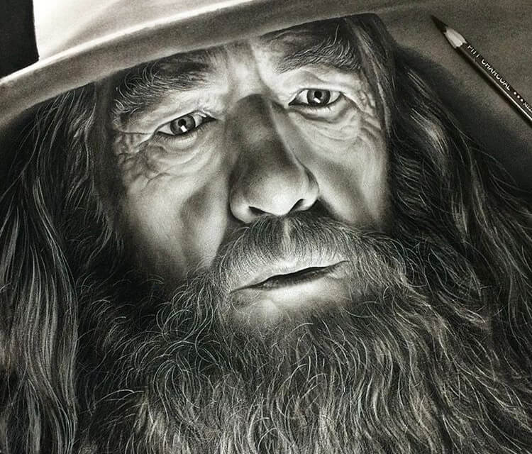 Gandalf Drawing Beautiful Image