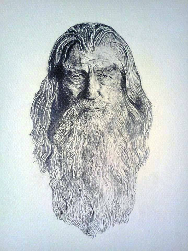 Gandalf Drawing Creative Art