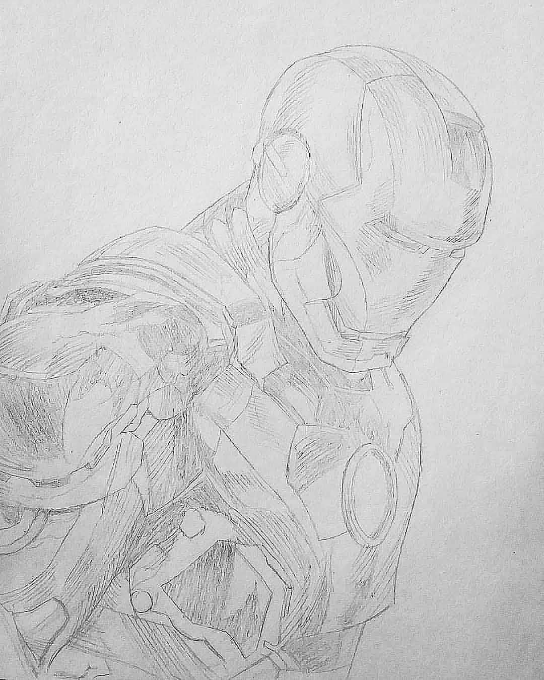 Iron Man Drawing Sketch