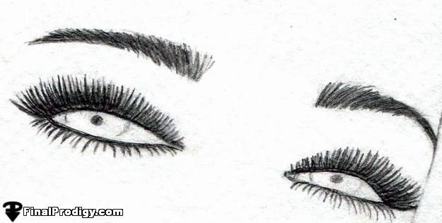 Pretty Eyes Art Drawing