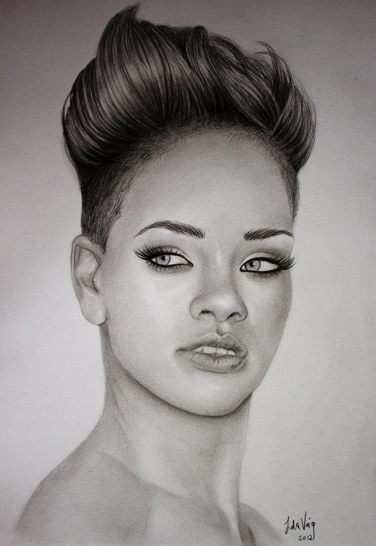Rihanna Drawing Beautiful Art