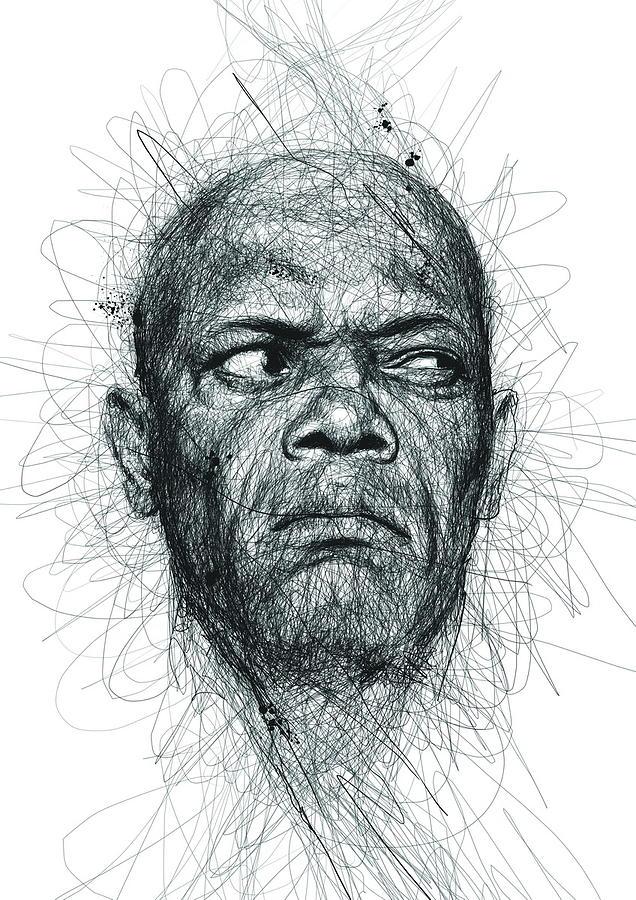 Samuel L Jackson Drawing Beautiful Image
