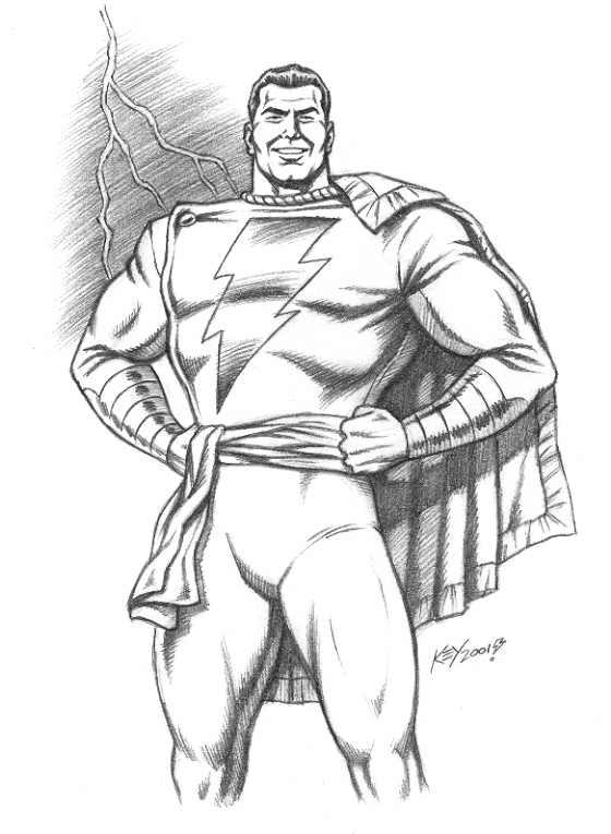 Shazam Art Drawing