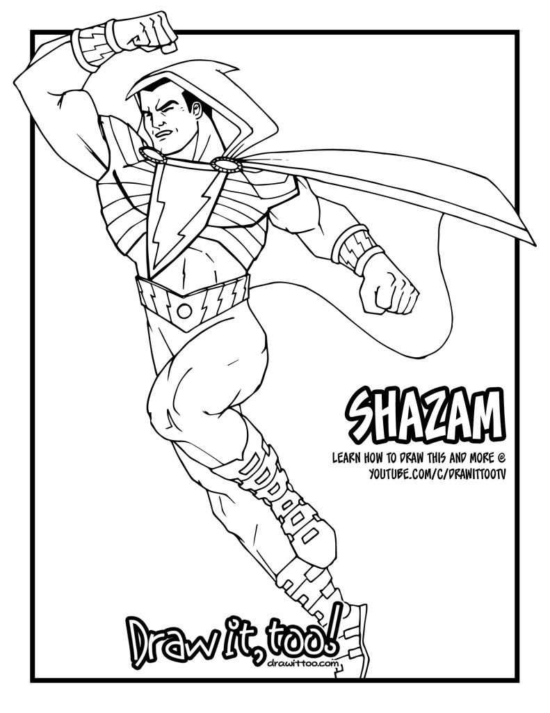 Shazam Drawing Beautiful Image