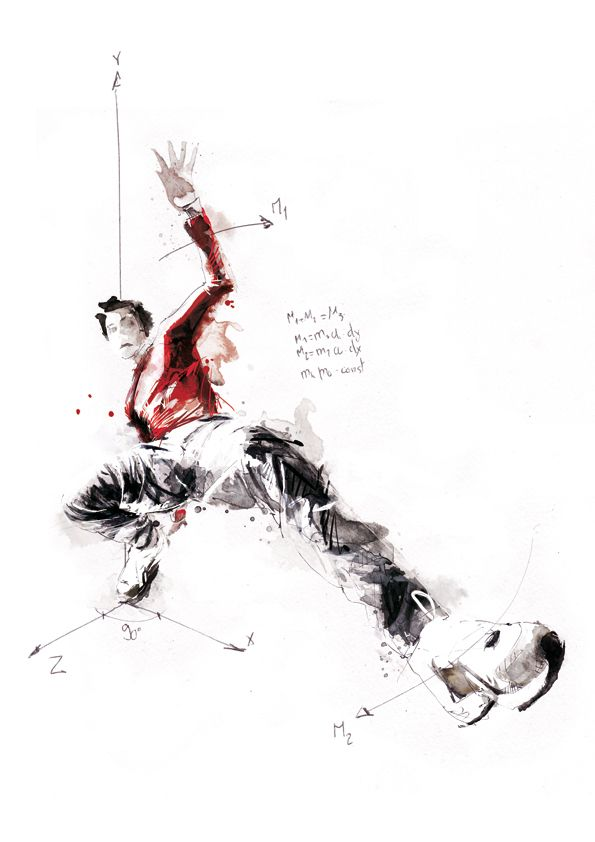 Breakdancer Drawing Photo