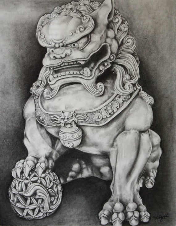 Foo Dog Drawing Best