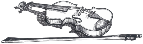 Violin Drawing Realistic
