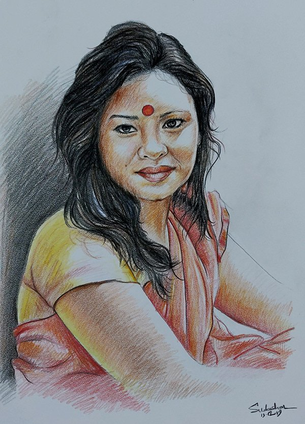 Color Sketch Drawing Picture