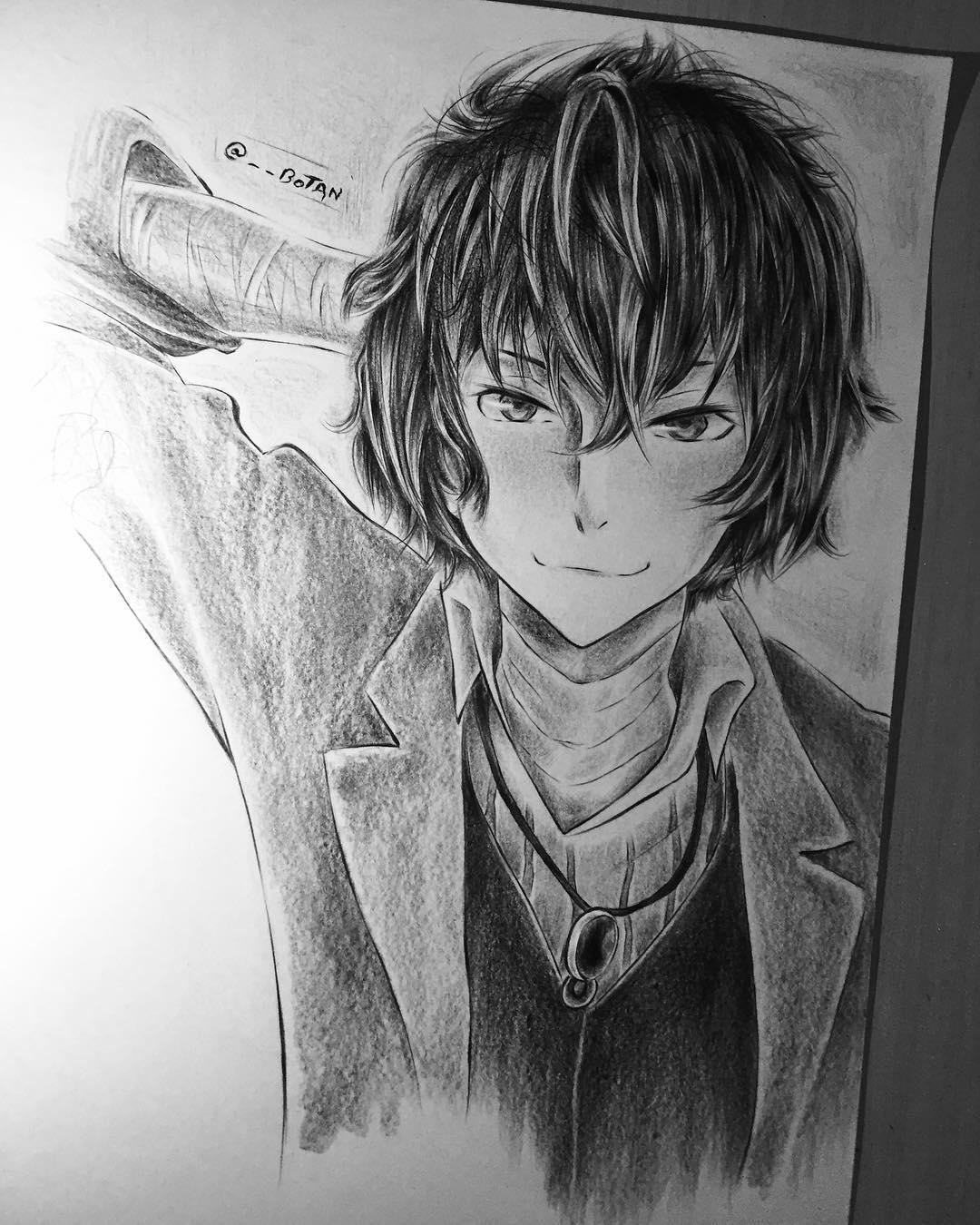 Dazai Osamu Anime Drawing