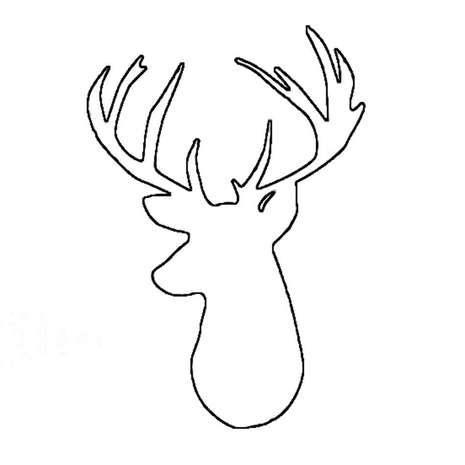 Deer Head Drawing Pic