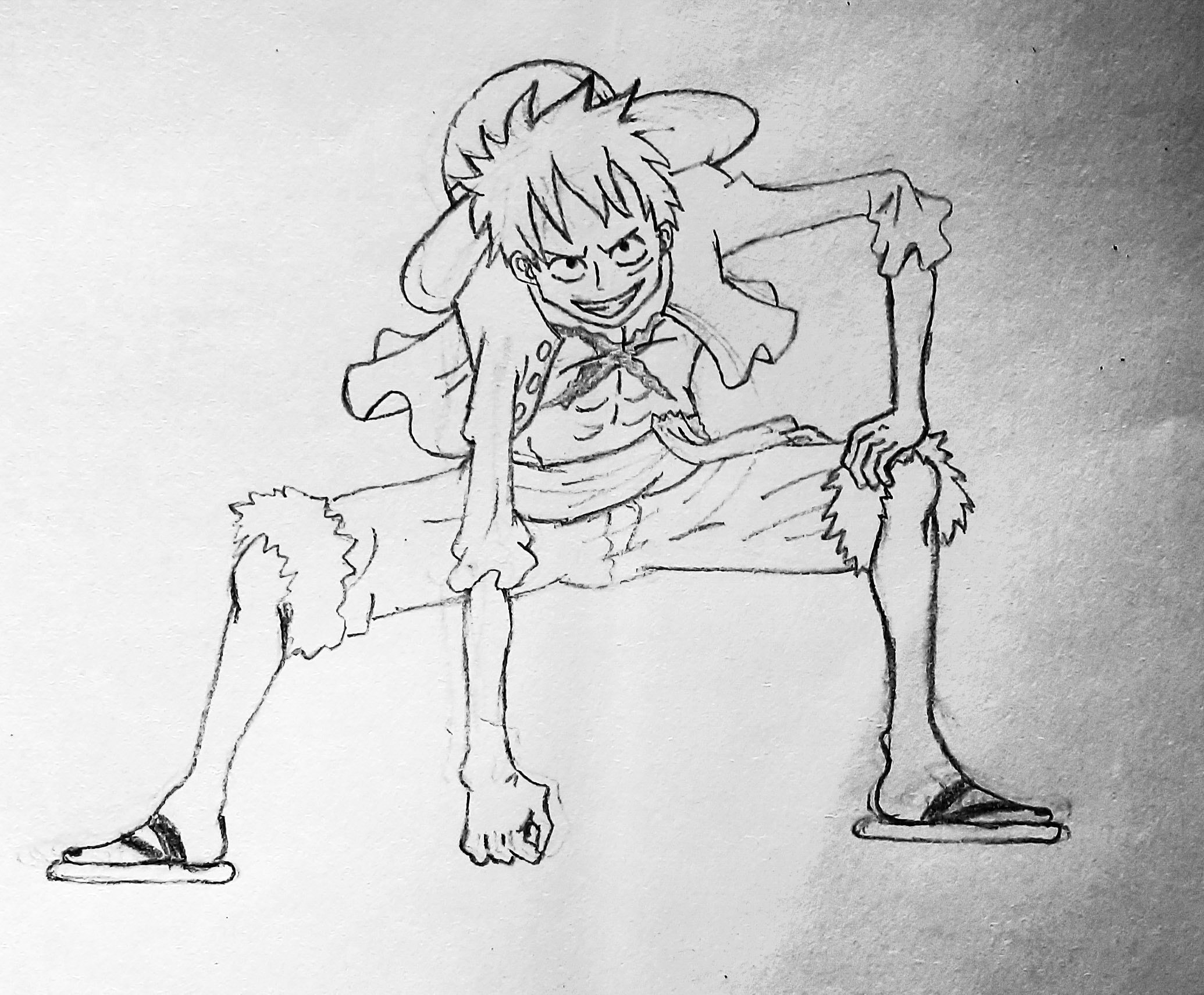 One Piece, Monkey D. Luffy Drawing