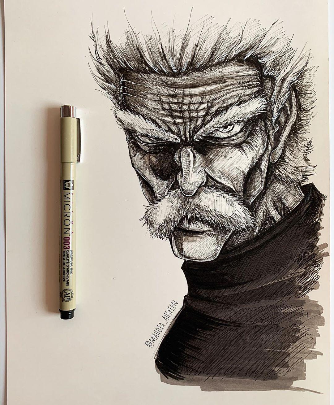 Silver Bang – One Punch Man Drawing