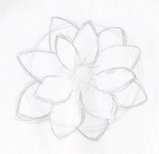 Simple Flower Drawing Beautiful Art