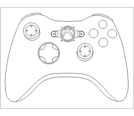 Xbox Controller Drawing Realistic