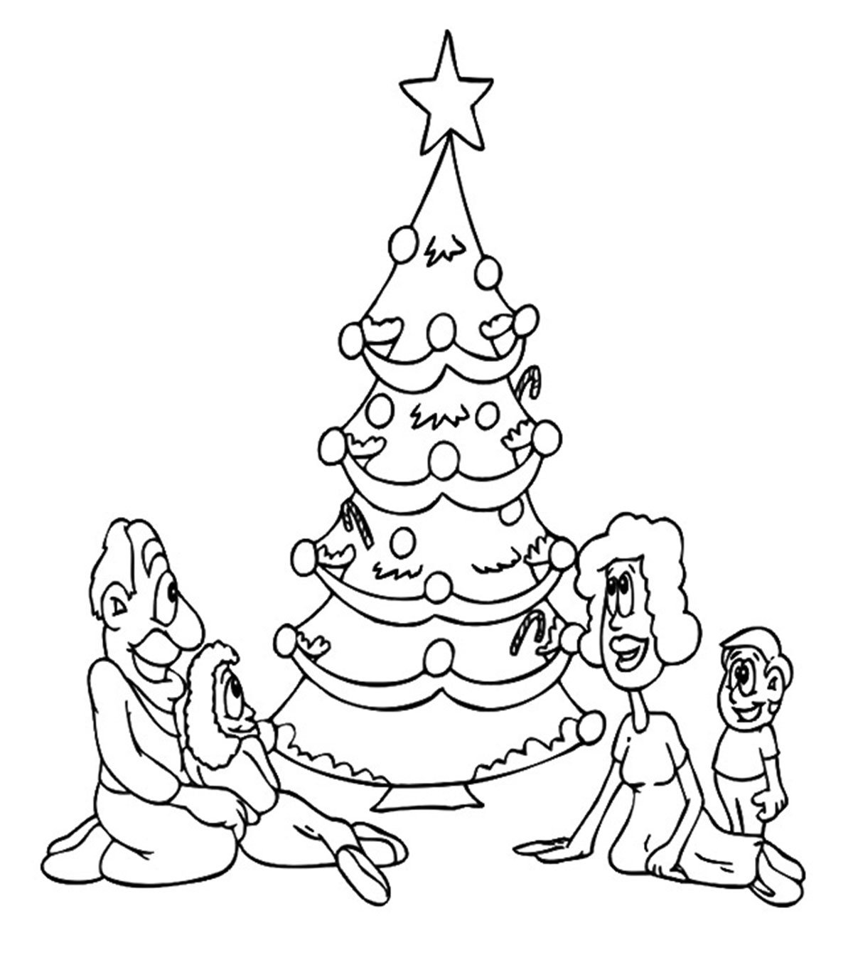 Xmas Tree Drawing Best