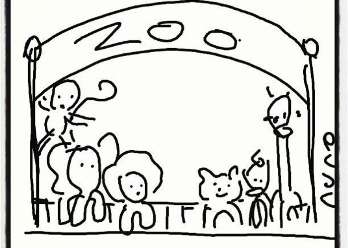 Zoo Drawing Creative Art