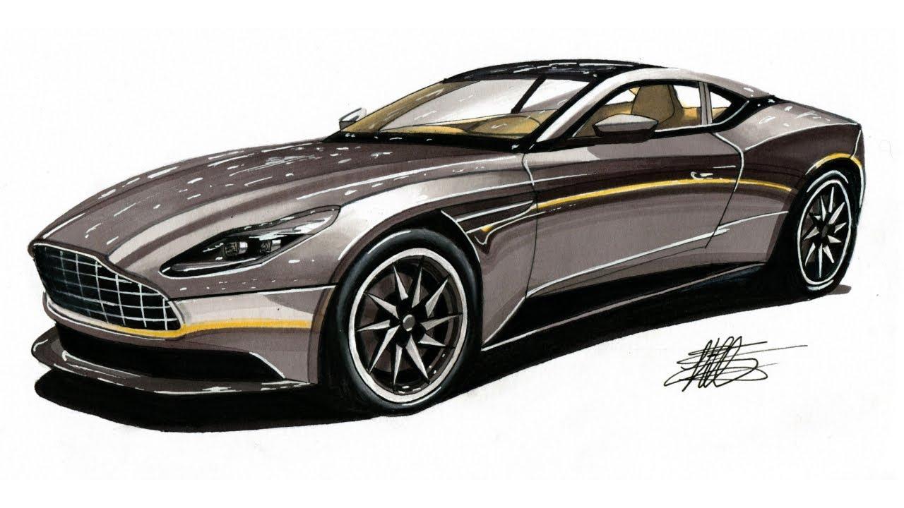 Aston Martin Drawing Photo