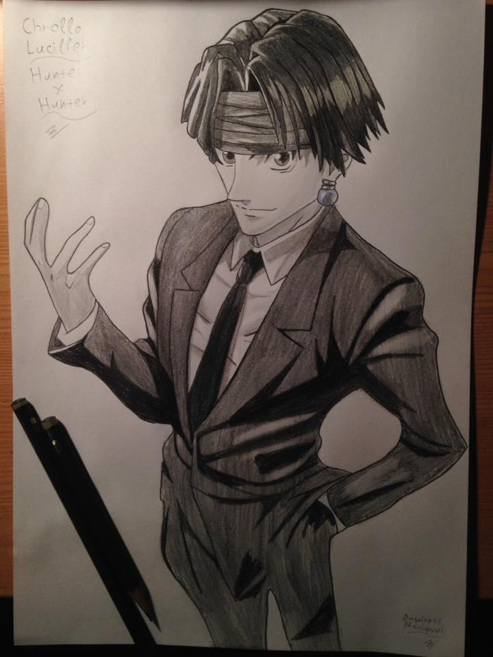 Chrollo Lucilfer Drawing Sketch