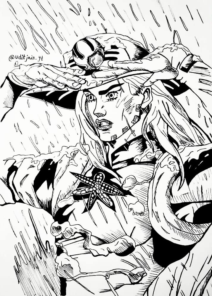 Gyro Zeppeli Drawing Picture