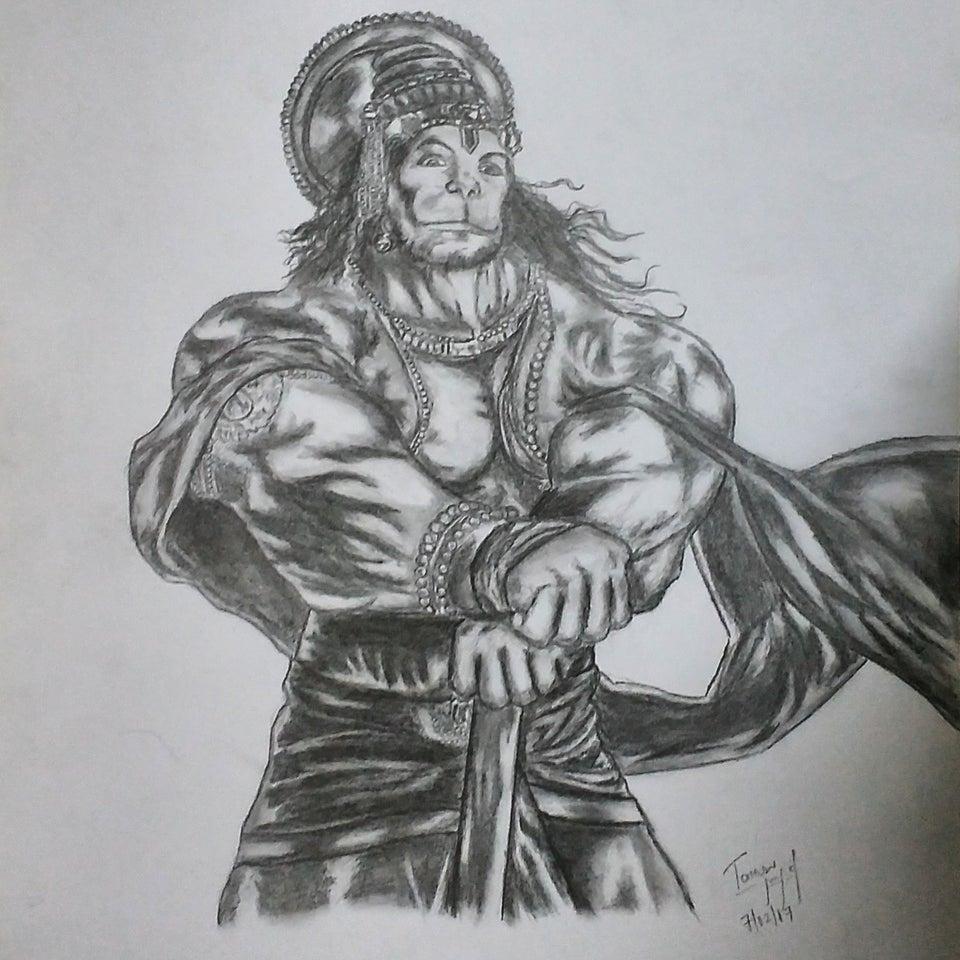 Lord Hanuman Drawing Best