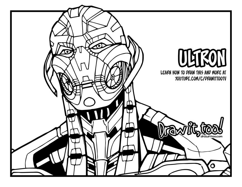 Ultron Art Drawing