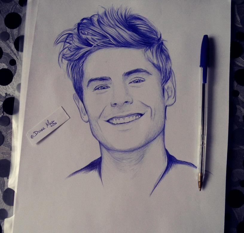 Zac Efron Drawing Image