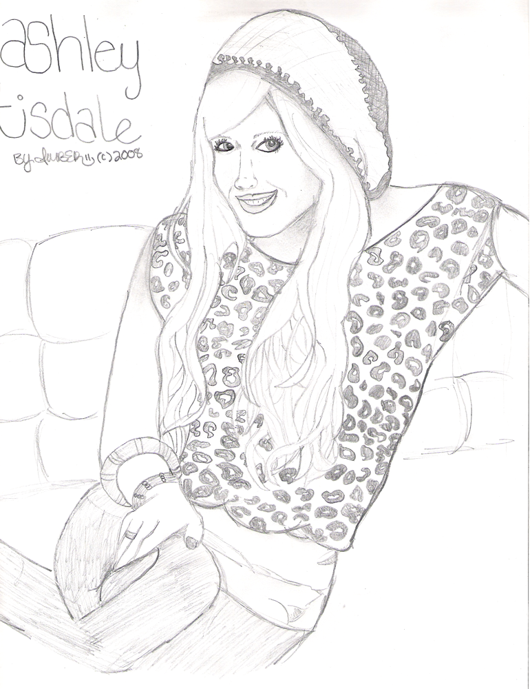 Ashley Tisdale Drawing