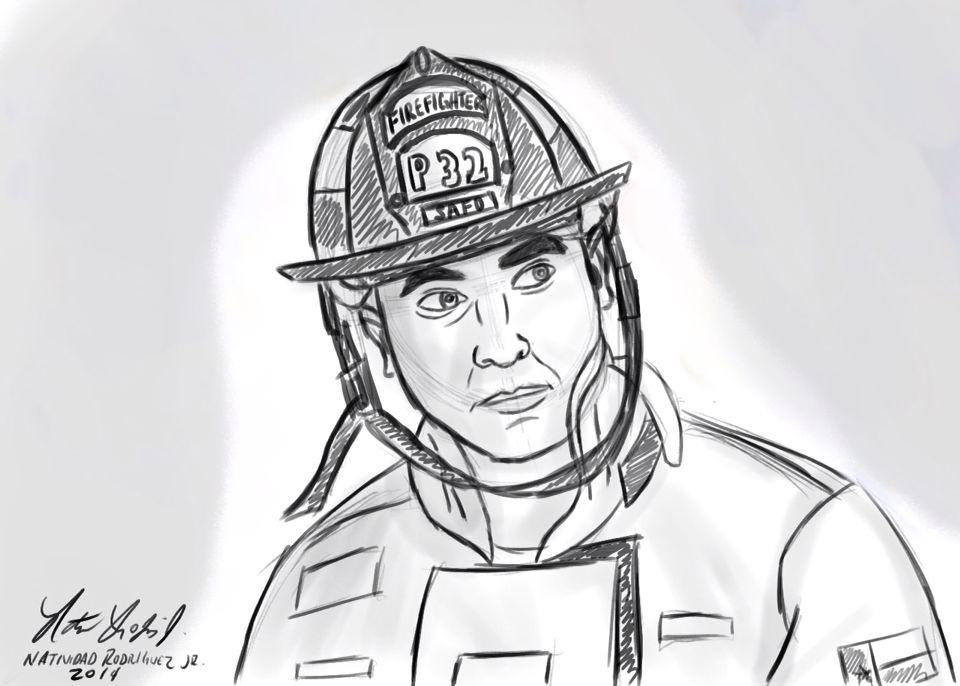 Firefighter Drawing Art