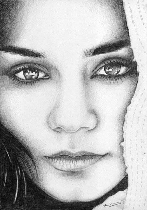 Vanessa Hudgens Drawing Beautiful Art